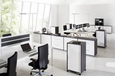 Houten kantoorkasten
