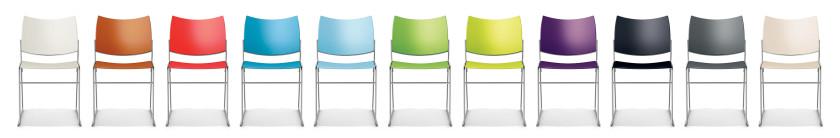 Kunststofkleur: Clear white NCS S 0300-N, Brick D6.60.40, Tomato, NCS S 0585-Y80R, Azur blue R0.40.50, Sky blue, Apple green NCS S 0580-G30Y, Lime green, Violet NCS S 5040-R50B, Black RAL 9005, Grey RAL 7012, Crème White RAL 9001.