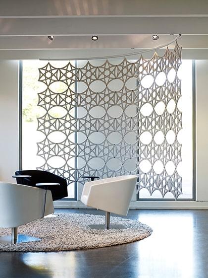 Airflakes decoratieve scheidingswand