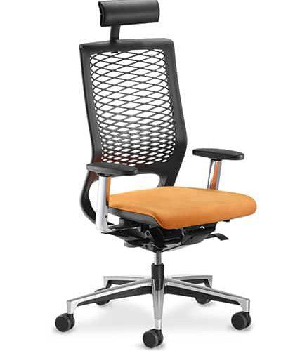 bureaustoel Mera met netrug en neksteun