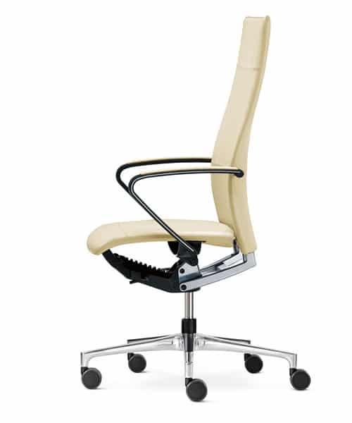 Bureaustoel Ciello met hoge rug en design armleuningen