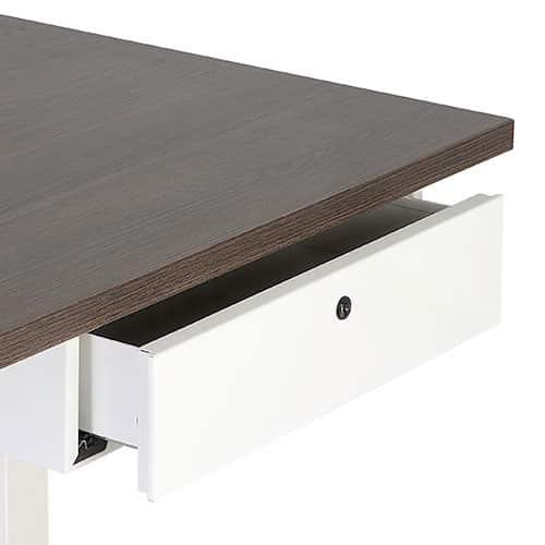 Dit is een multifunctionele lade voor montage onder het bureaublad, voorzien van pennenbakje en cilinderslot. (BxDxH)42x30x12cm.