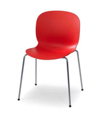 RBM Noor Poppy (rood), zilvermetallic frame