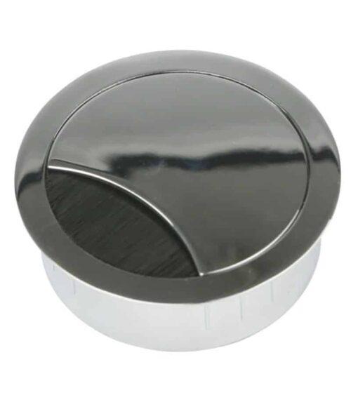 kabeldoorvoer chroom voorzien van borstel
