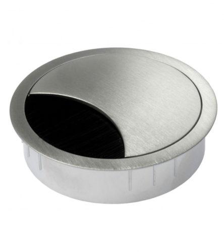 mat chroom kabeldoorvoer voorzien van een afsluitborstel