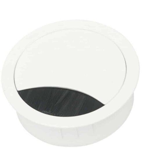 kabeldoorvoer wit gelakt voorzien van borstel