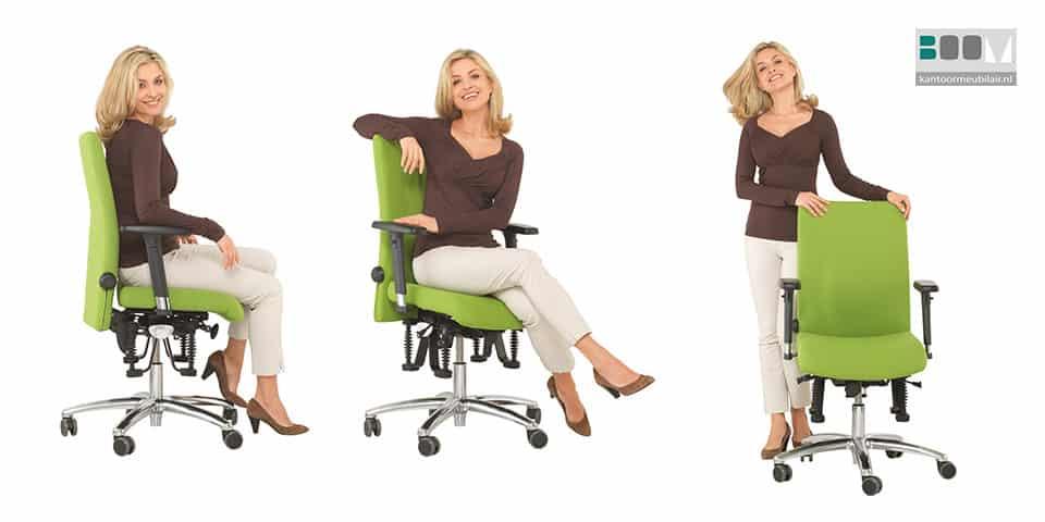 Haider Bioswing bureaustoelen bestrijden rugklachten