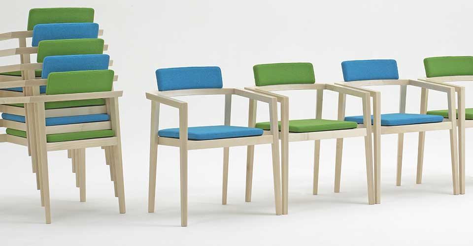 houten conferentiestoelen Session