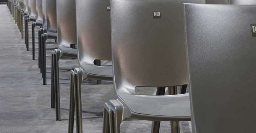 zaalstoelen met stoelnummering Monolink