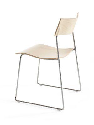 Campus stoel met draadstaal frame