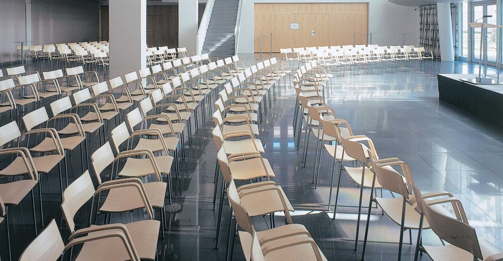Gekoppelde stoelen Lammhults Campus