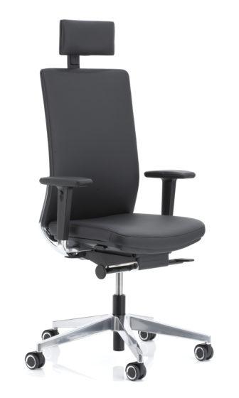 Foto KÖHL Anteo Alu bureaustoel met hoofdsteun