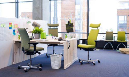 HAG H05: Ergonomische bureaustoel, instelbaar met één knop.