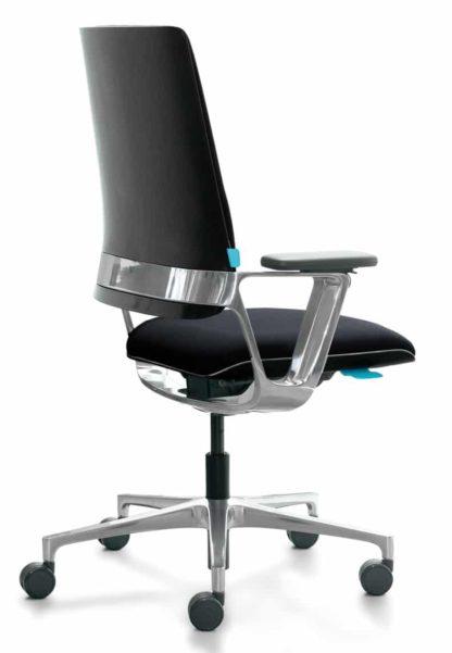 Klober Connex2 automatische bureaustoel in gepolijst aluminium