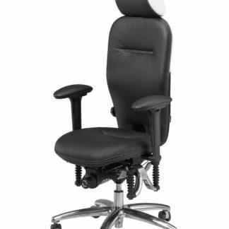 "Bioswing bureaustoel 460 ""Black Edition"" voorkant"