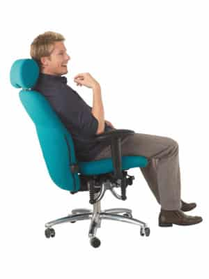 Bioswing bureaustoel 460 turquoise met man