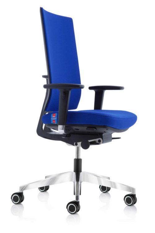 Bureaustoel Köhl Anteo Basic in blauwe stof