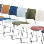 Nieuwe kleuren Howe 40/4 conferentie-, kantine- en zaalstoelen.