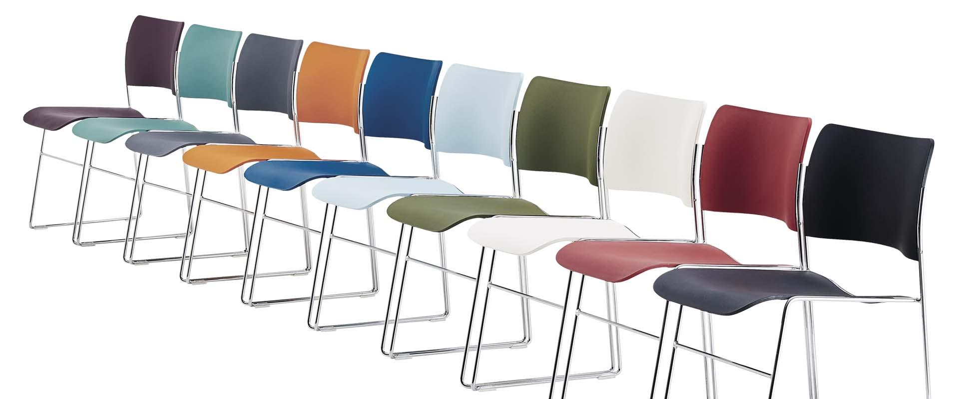 Howe stoel 40/4 stapelbare stoelen