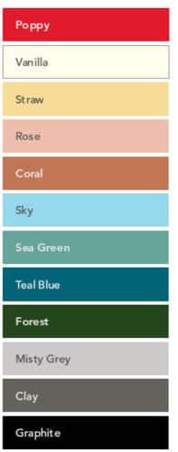 RBM Noor 6050 kunststof kleuren