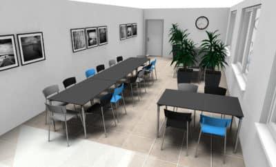 Ontwerp van kantine inrichting van Boom Kantoorprojecten