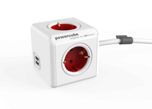 PowerCube Extended USB rood