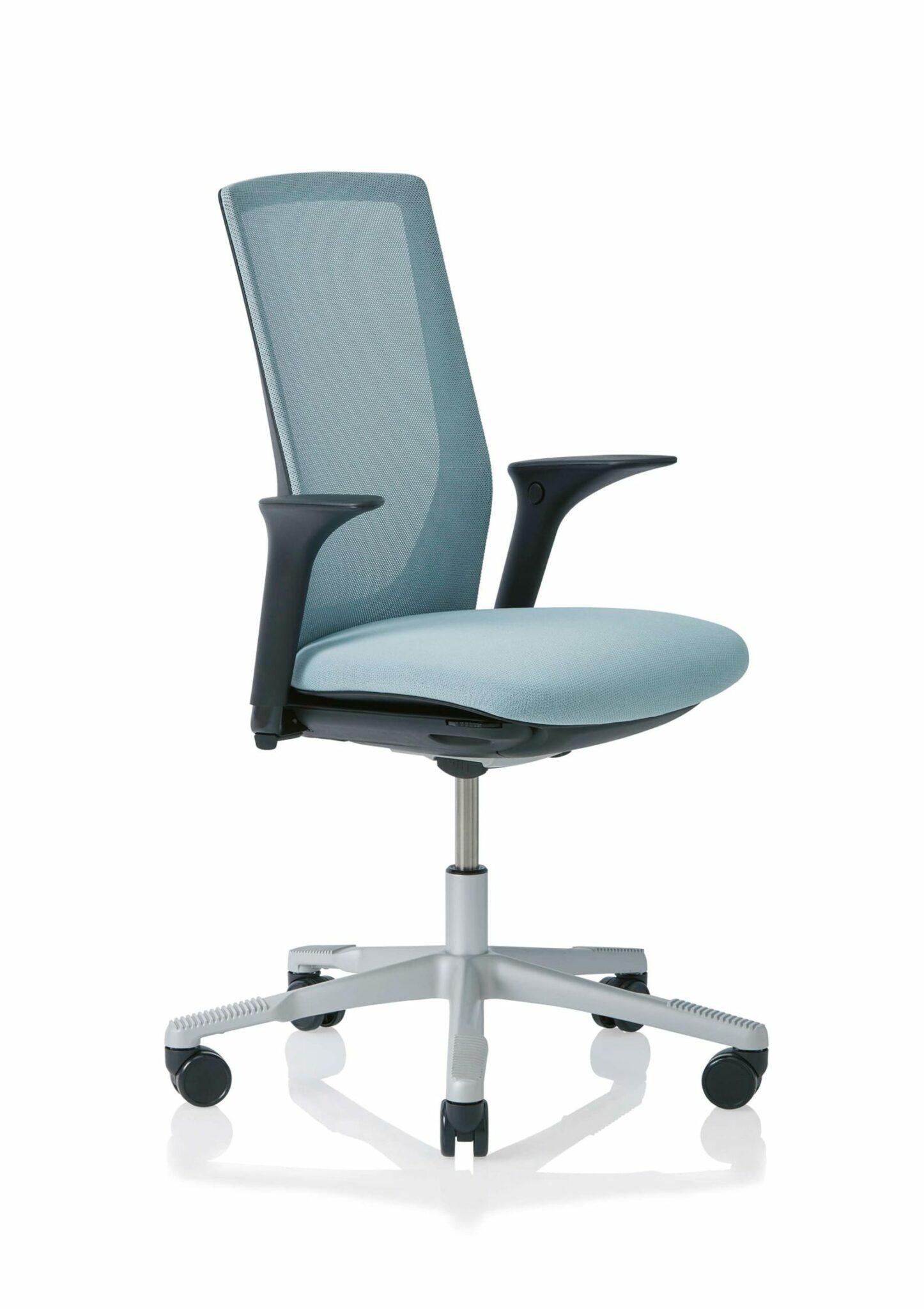 HÅG Futu 1100-S bureaustoel met FutuKnit mesh rugleuning en zitting gestoffeerd in FutuKnit solid. Optioneel met lendensteun