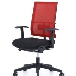 Bureaustoel ANTEO Basic rood met lendensteun