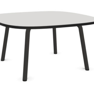 Cascando Pully vierkante lage tafel - Opaalwit HPL