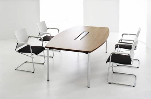 ophelis Serie Z Conferentietafel met verchroomd onderstel