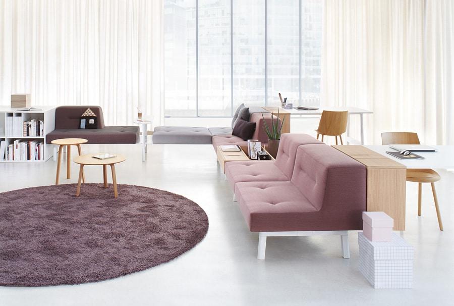 ophelis Docks modulair meubilair in een L configuratie