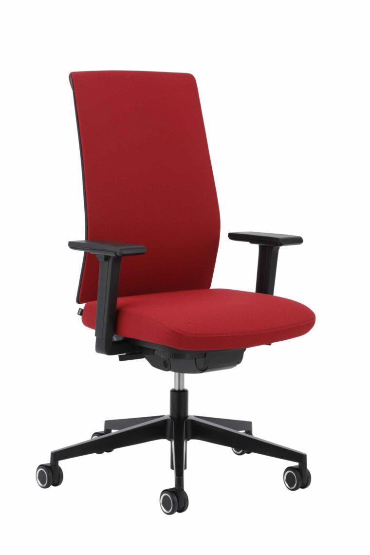 Bureaustoel Kohl Tempeo Fresh Zwart Rode stof