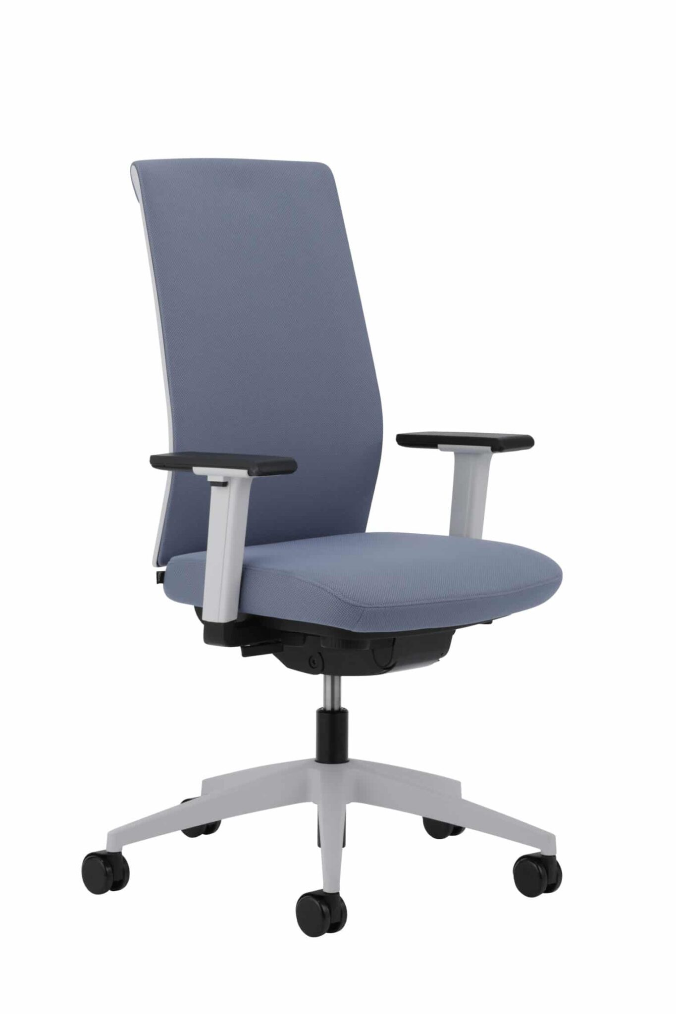 Bureaustoel Kohl Tempeo Fresh Lichtgrijs met blauwgrijze stof