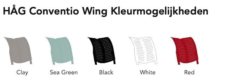 HAG Wing kunststof kleuren