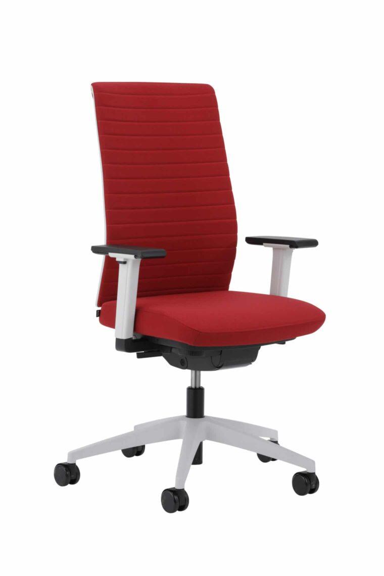 Kohl Tempeo Wave bureaustoel Lichtgrijs met rode stof