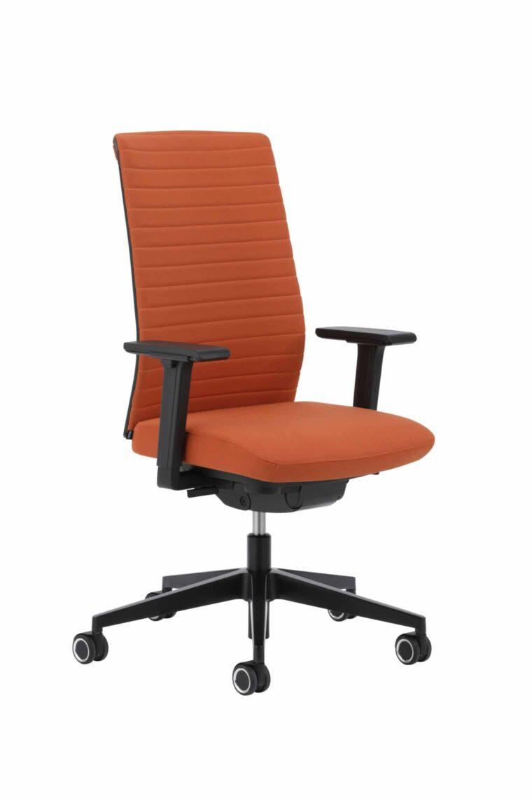 Kohl Tempeo Wave bureaustoel Zwarte uitvoering met Oranje stof