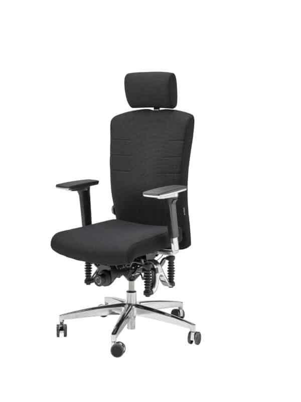 Bioswing bureaustoel 560 IQ gestoffeerd met stoffen bekleding