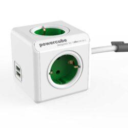 PowerCube met USB groen
