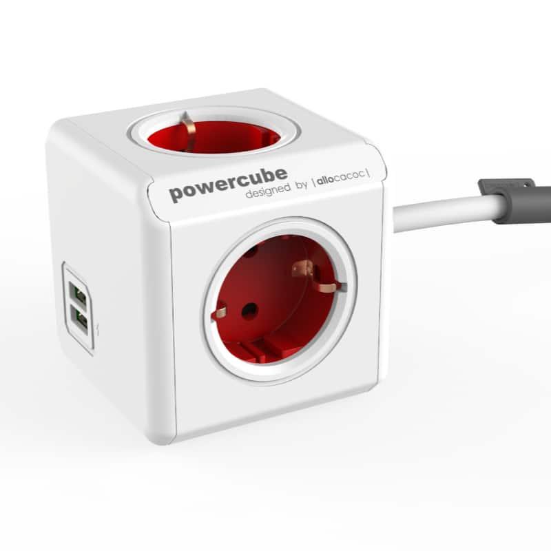 PowerCube met USB rood