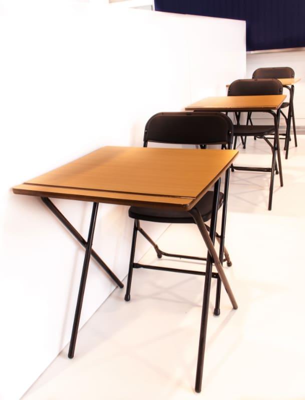 Inklapbare examentafel